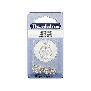 Beadalon Bead Tip .70mm Double Silver 16pc
