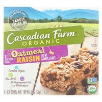 Cascadian Farm Organic Chewy Granola Bars - Oatmeal Raisin - Case of 12 - 6.24 oz.
