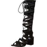 Steve Madden Womens Lorraine Gladiator Sandals Open Toe Ghillie