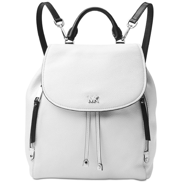 c05092bebc97 MICHAEL Michael Kors Evie Medium Leather Backpack White/Black - One Size