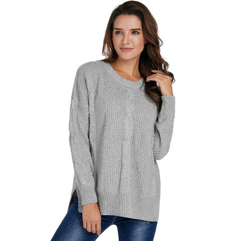 Gray Patterned Sweater