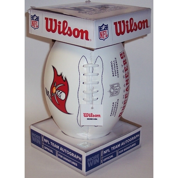 7a88d2e5 Tampa Bay Bucs Wilson NFL 4 White Panel Autograph Model Football F1193