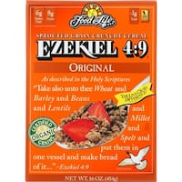 Food For Life - Ezekiel 4:9, Sprouted Whole Grain Cereal - Original - 16 oz, case of 6