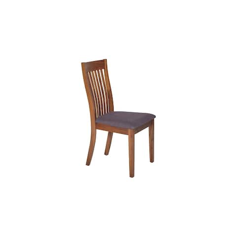 Laureen Walnut and Grey Modern Dining Chair (Set of 2)