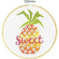 """6"""" 14 Count - Sweet Pineapple Counted Cross Stitch Kit"""