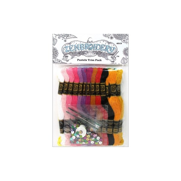 Design Works Zenbroidery Trim Pack Floss Pastels