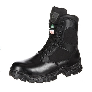 "Rocky Work Boots Mens 8"" Alphaforce Waterproof CT Black FQ0006269"