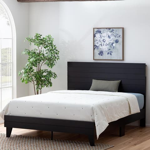 Brookside Sophia Shiplap Wood Panel Platform Bed Frame