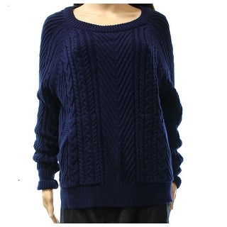 Vertical Design NEW Blue Women Size Medium M Textured Crewneck Sweater