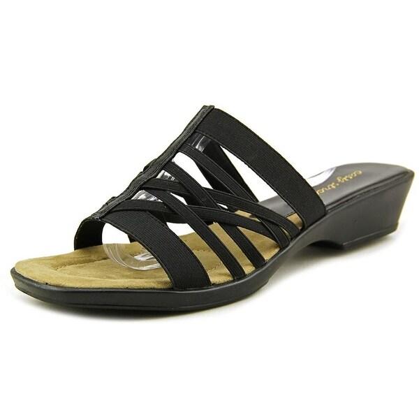 Easy Street Seaside   Open Toe Canvas  Slides Sandal
