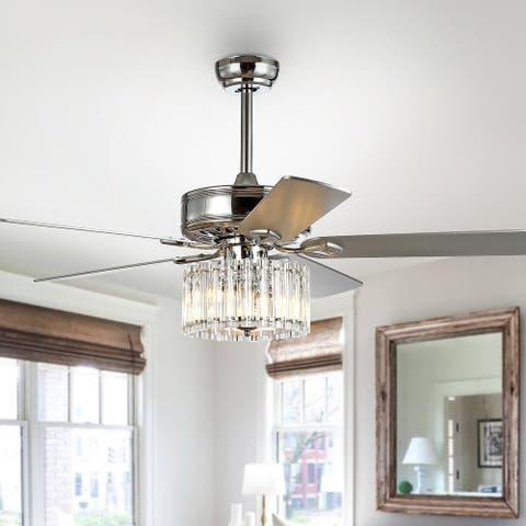 "SAFAVIEH Lighting 52-Inch Dresher Ceiling Light Fan (with Remote) - 52"" W x 52"" L x 25"" H"