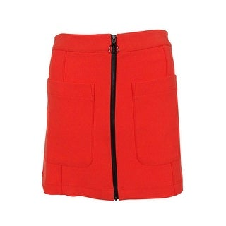 RACHEL Rachel Roy Women's Zipper Detail Pocket Mini Skirt - Chili - 0