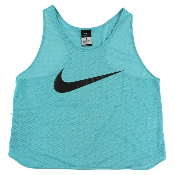 677822de49b3 Shop Nike Womens Run Free Cool Swoosh Tank Top Omega Blue - omega blue black  - L - Free Shipping On Orders Over  45 - Overstock - 22615678