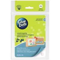Glue Dots Ultra Thin Adhesive Dot Sheets, Contains 252 (.375 Inch) Diameter Permanent Adhesive Dots (04044FC)
