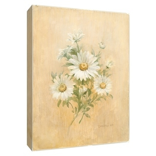 """PTM Images 9-154602  PTM Canvas Collection 10"""" x 8"""" - """"July Daisy"""" Giclee Daisies Art Print on Canvas"""