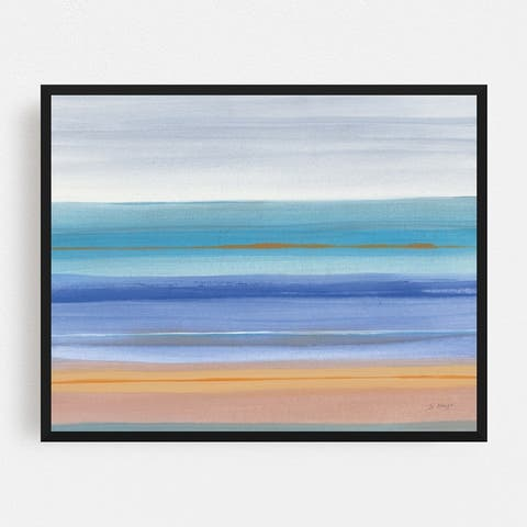 Abstract Beach Coastal Nature Water Framed Wall Art Print