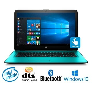 HP 17-x026ds Intel Quad-Core, 8GB, 17.3 HD+ WLED Touchscreen, Laptop Bundle - TEAL