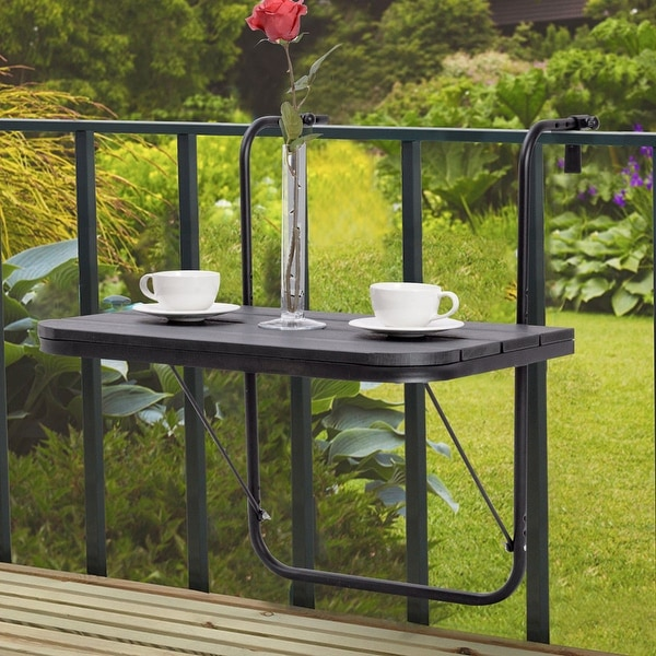 Shop Costway Folding Balcony Deck Table Patio Small Side