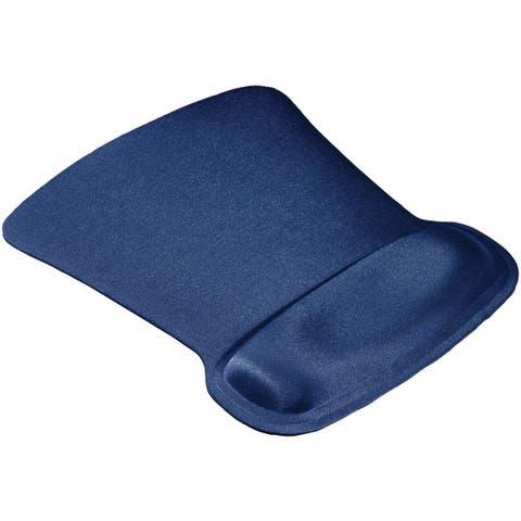 Allsop 30193 Ergoprene Gel Mouse Pad With Wrist Rest (Blue)