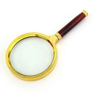 Plastic Handle 10X Handheld Reading Loupe Magnifier Magnifying Glass 80mm Dia