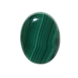 Malachite Gemstone Oval Flat-Back Cabochons 25x18mm (1 Piece)