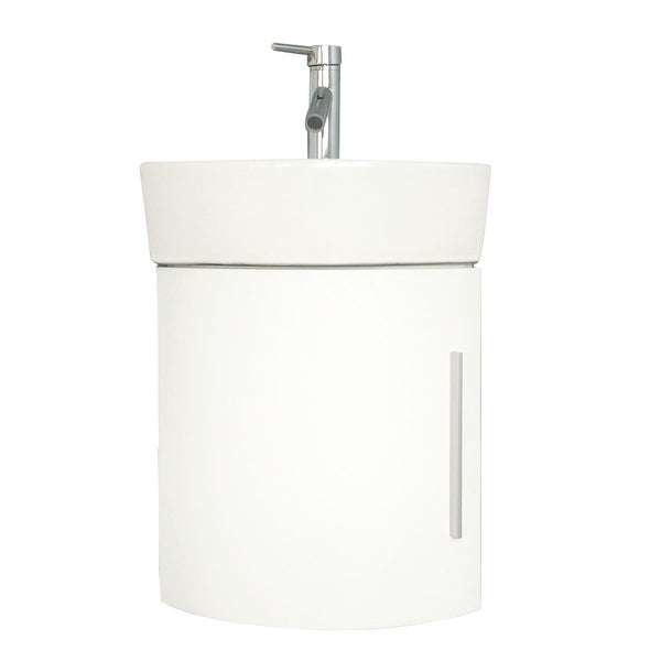 Shop bathroom white wall mount corner cabinet vanity sink - Corner bathroom vanities for sale ...