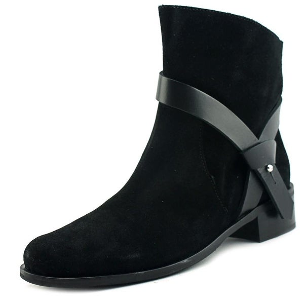 Charles David Genni Women Round Toe Suede Black Ankle Boot