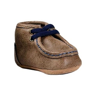 Double Barrel Slippers Boys Baby Bucker Smith Stitching Brown - 0 infant