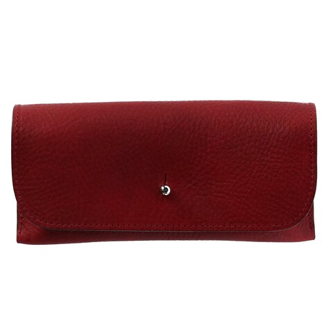 The British Belt Company Italian Leather Glasses Case with Suede Lining - One size