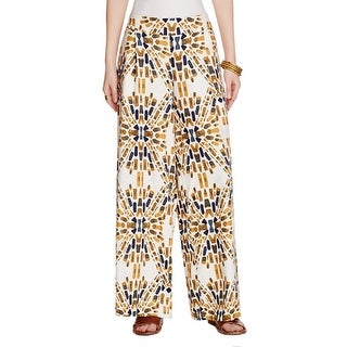 Free People Womens Over Under Wide Leg Pants Linen Blend Printed