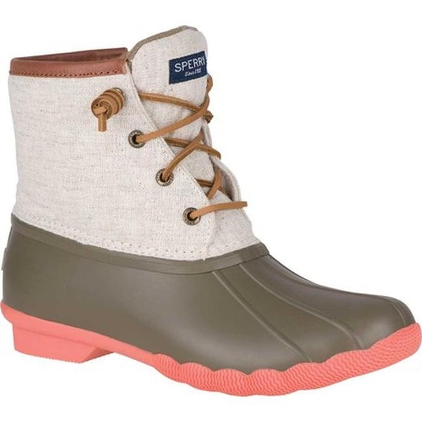 bdaae74bbcf2 Sperry Top-Sider Women  x27 s Saltwater Duck Boot Taupe Natural Prints  Rubber