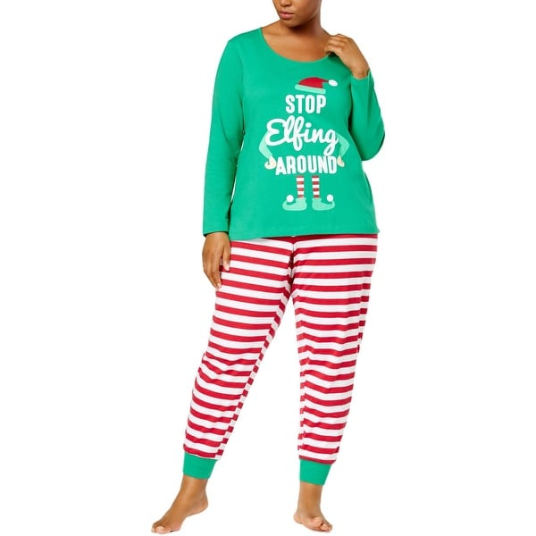 2327b62540 Shop Family PJs Womens Plus Elf Two-Piece Pajamas Christmas Holiday - 2x -  Free Shipping On Orders Over  45 - Overstock - 23595414