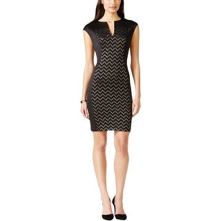 Connected Apparel Womens Casual Dress Metallic Sheath - 10
