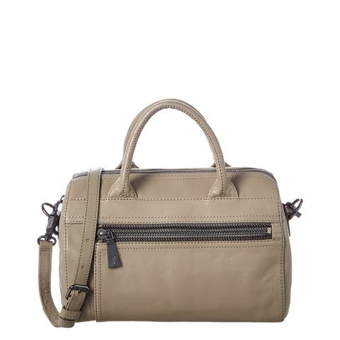 Frye Lena Leather Zip Satchel - Grey