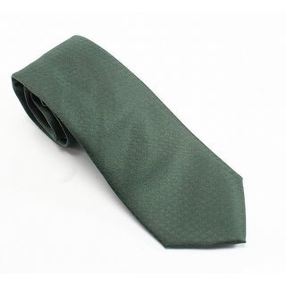 Calvin Klein NEW Green Silk Woven Solid Men's Textured Classic Necktie