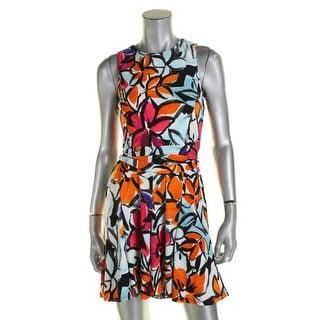 Lauren Ralph Lauren Womens Petites Casual Dress Floral Print Sleeveless