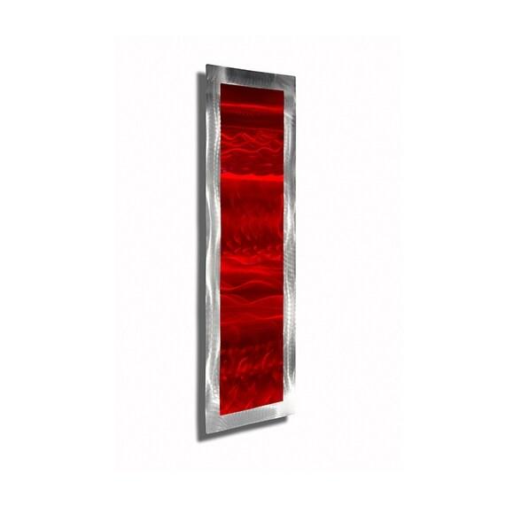 Statements2000 Red/Silver Abstract Metal Wall Art Accent Sculpture Decor by Jon Allen - Inner Fire 2