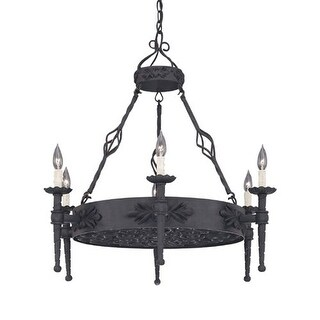 Designers Fountain 9186-NI 6 Light Island Chandelier from the Alhambra Collection
