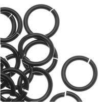 Artistic Wire, Chain Maille Jump Rings, 18 Ga / ID 5.95mm / 100pc, Black Color