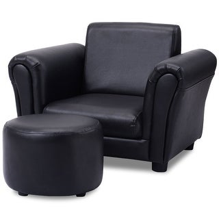 Beau Costway Black Kids Sofa Armrest Chair Couch Children Toddler Birthday Gift  W/ Ottoman