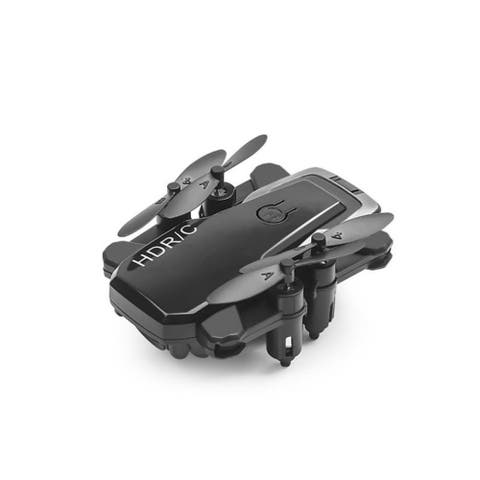 Mini D2 Foldable 2.4G 6-Axis RC Quadcopter Drone, FPV WiFi 480P 0.3MP HD Camera Helicopter, Headless Mode BLACK
