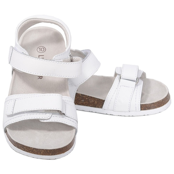 b40f5ad501e706 Shop L Amour White Soft Footbed Strap Sandals Toddler Girls 7-10 ...