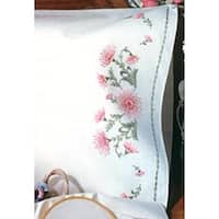 """Gloriosa - Stamped Pillowcase Pair For Embroidery 20""""X30"""""""