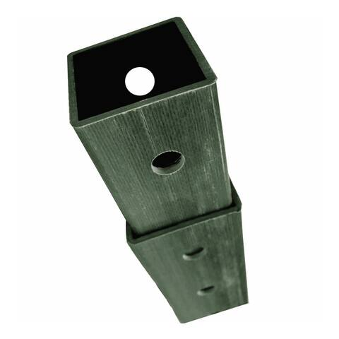 "DOGIPOT 2"" Thick and 48""H-96""H Galvanized Steel Square Post for Mounting the Dogipot 10-Gallon Steel Waste Receptacle"