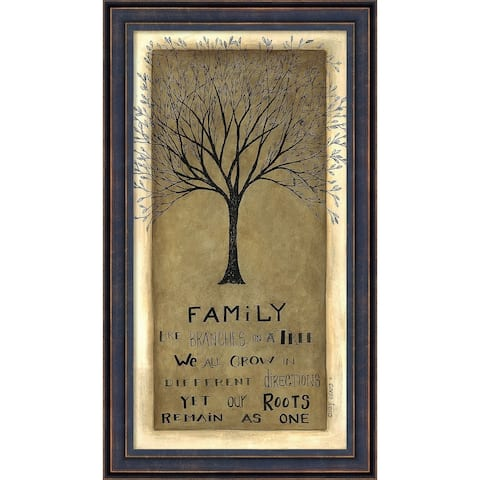 Framed Art Print 'Family Tree' by Cindy Shamp 10 x 17-inch