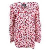 Ralph Lauren Women's Floral-Print Cotton Top - Multi