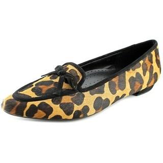 Vaneli Gada Women Pointed Toe Suede Tan Flats