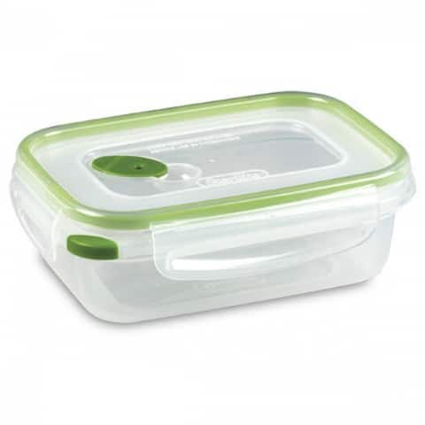 Sterilite 03111606 Ultra-Seal Rectangle Food Storage Container, Green, 3.1 Cup