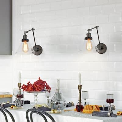 Modern Farmhouse Transitional 1-light Swing Arm Lights Wall Sconces Lamp