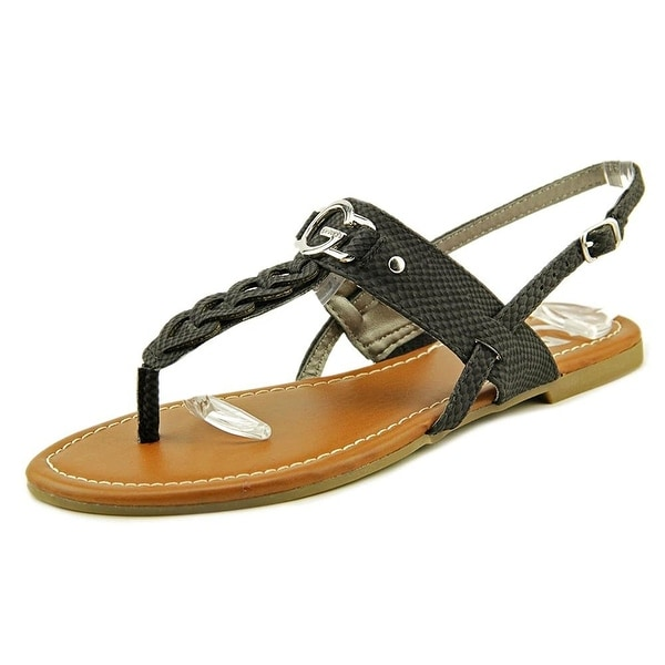 G by Guess Womens Lorriee Split Toe Casual T-Strap Sandals